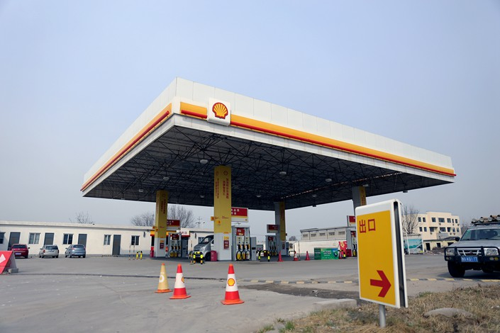 A Shell gas station in East China's Shandong province on March 21. Photo: VCG