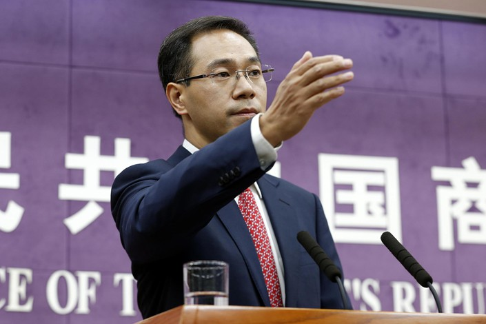 Ministry of Commerce Spokesman Gao Feng. Photo: VCG