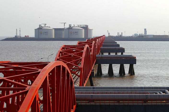 A liquefied natural gas terminal in East China's Jiangsu province. Photo: VCG