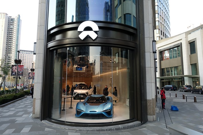 A Nio showroom in Shanghai on Jan. 16. Photo: IC