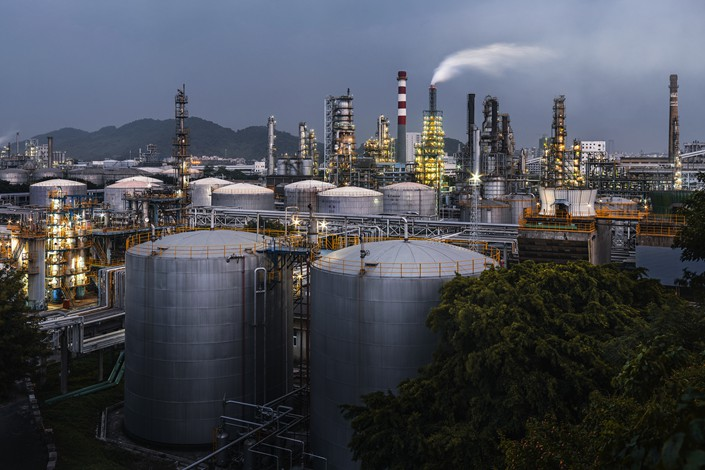 A petroleum chemical plant is seen in Guangzhou, Guangdong province, in September 2017. Photo: VCG