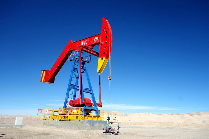 A China National Petroleum Corp. oil well in Qinghai province on Sept. 5. Photo: VCG