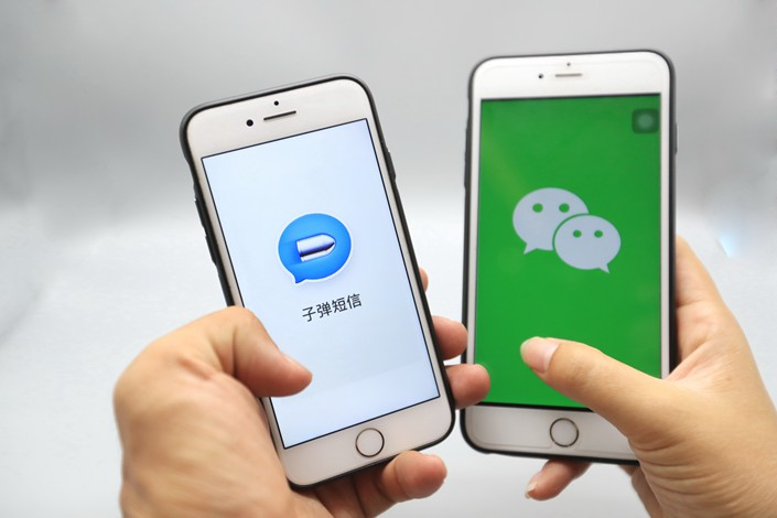Tencent Holdings Ltd., which makes the WeChat app, has denied reports that it is seeking to invest in the new Bullet Message app. Photo: IC