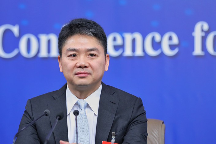 JD.com's shares have lost nearly half their value from early June, since reports emerged that founder and CEO Richard Liu (pictured) had been detained in the U.S. Photo: VCG