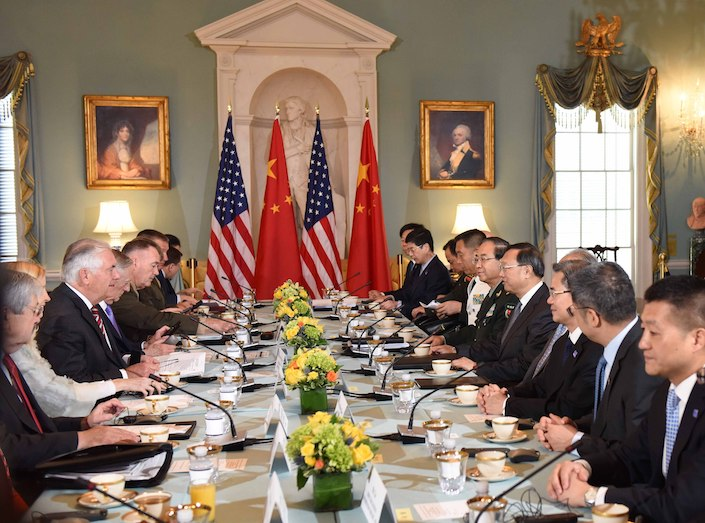 Representatives from China and the U.S. meet in June 2017 for the first U.S.–China Diplomatic and Security Dialogue, in Washington, D.C. Photo: VCG
