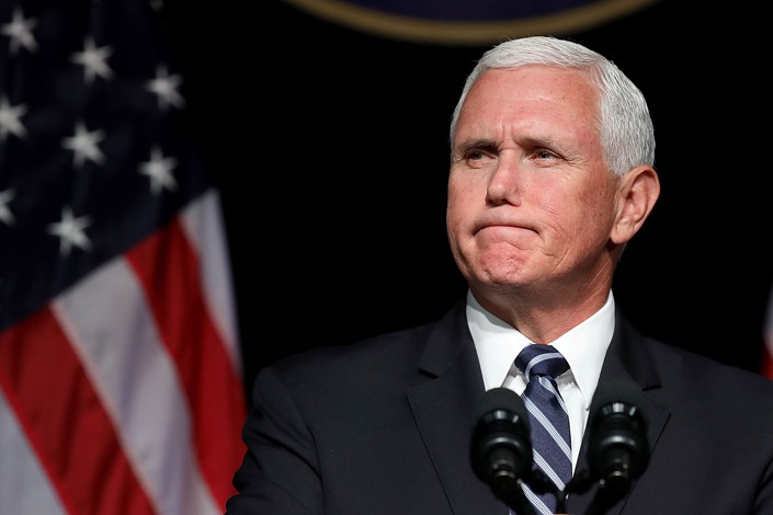 Pence accuses China of meddling