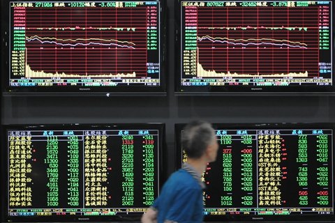 The Shanghai composite index has lost more than 20% this year. Photo: VCG
