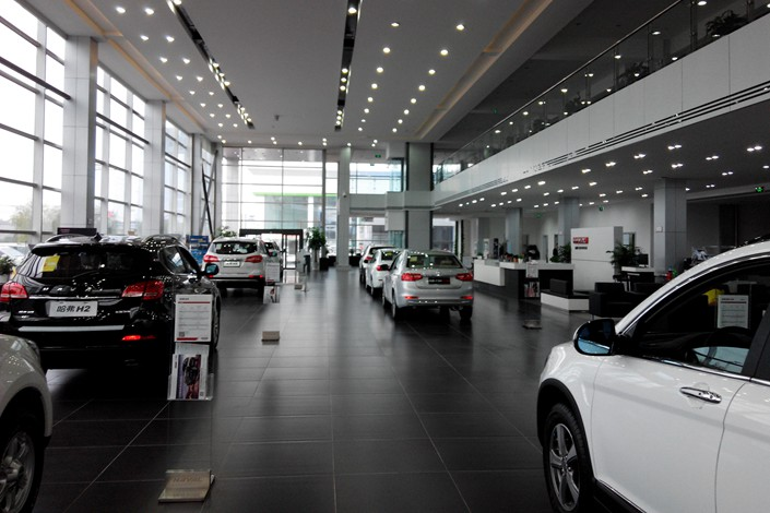 An auto dealership in Northeast China's Heilongjiang province. Photo: IC