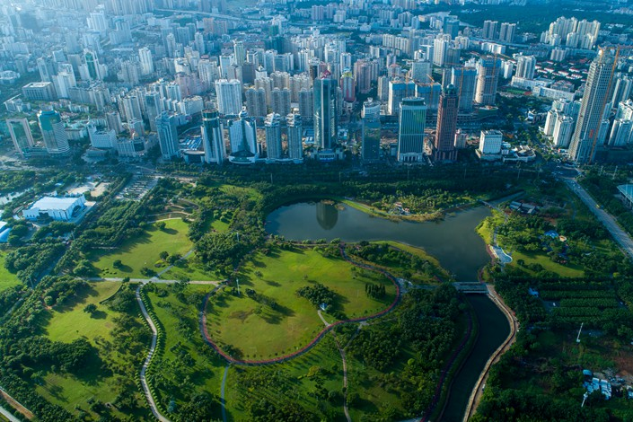 An aerial view of Haikou, capital of South China's Hainan province. Photo: IC