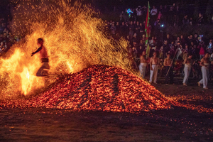 Gallery: Villagers Participate in Traditional 'Fire Walking' Ritual