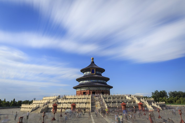 Beijing's iconic Temple of Heaven on Aug. 24, a day on which the capital city was not blanketed by smog. Photo: VCG