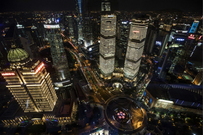 View of Shanghai's main financial district. Photo: Bloomberg