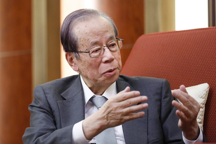 Former Japanese prime minister Yasuo Fukuda. Photo: China Daily