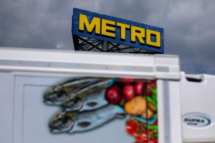 Operations at a Metro AG wholesale food delivery depot. Photo: Bloomberg