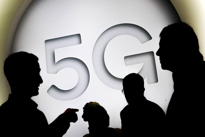 "A ""5G"" sign is seen at the Mobile World Congress in Barcelona, Spain, on Feb. 28. Photo: IC"