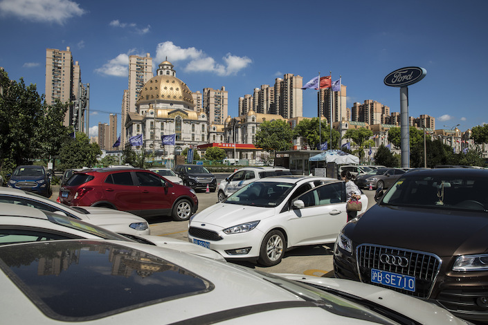 A dealership in Shanghai. Photo: Qilai Shen/Bloomberg