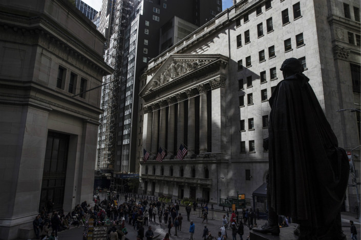The NYSE in New York. Photo: Bloomberg