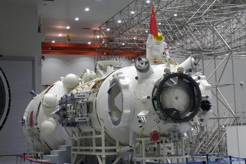 The Tianhe core module of the Chinese Space Station will be exhibited at the Zhuhai Airshow, the first time it will be exhibited to the public. Photo: VCG