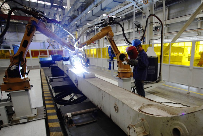 An automated production line is seen in Xuanhua, Hebei province, on Oct. 24. Photo: IC