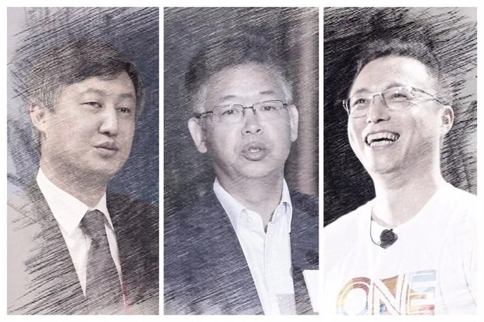 From left: Sun Guofeng, Huang Yiping, and Jing Xiandong