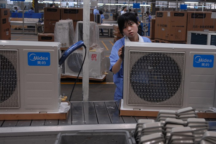 Midea air conditioners are made at a factory in Wuhu, Anhui province. Photo: VCG