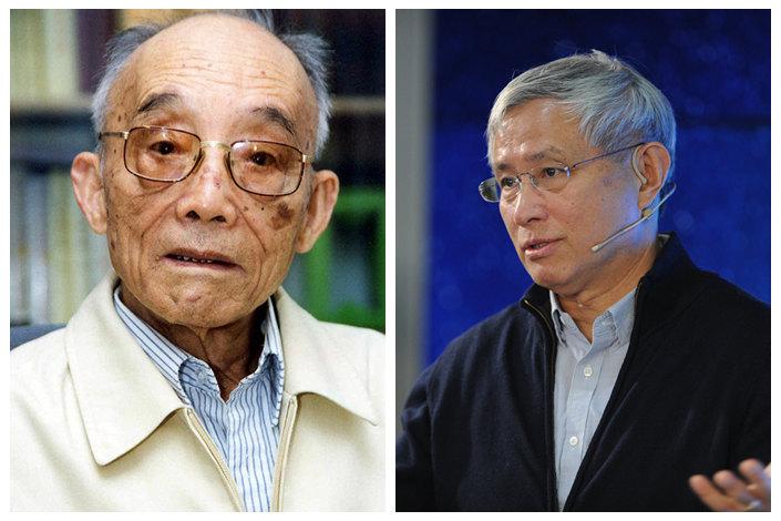 Du Runsheng (left), Zhou Qiren