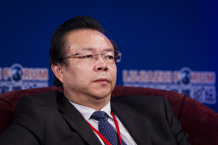 Lai Xiaomin, the former boss of China Huarong Asset Management, one of the country's big four distressed-asset managers. Photo: IC