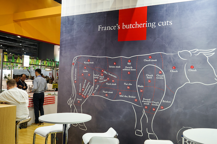 China lifted a ban on French beef in June. Photo: VCG