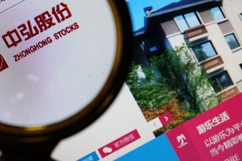 Zhonghong's shares have traded below par value since September. Photo: VCG