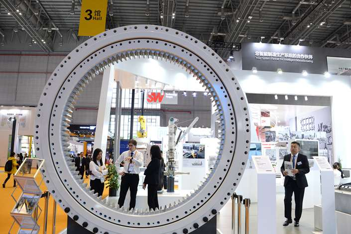A German manufacturing system on display at the China International Import Expo in Shanghai on Nov. 5. Photo: IC
