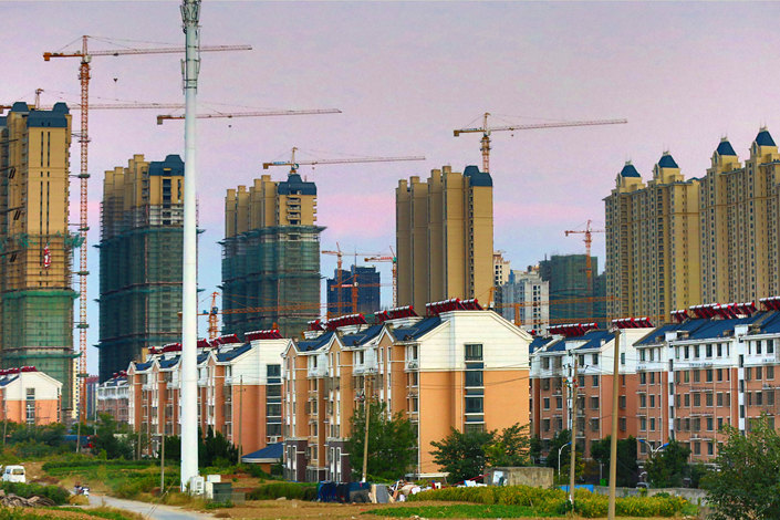 A real estate development building is seen under construction in Huaian, Jiangsu province, on Oct. 18. Photo: VCG