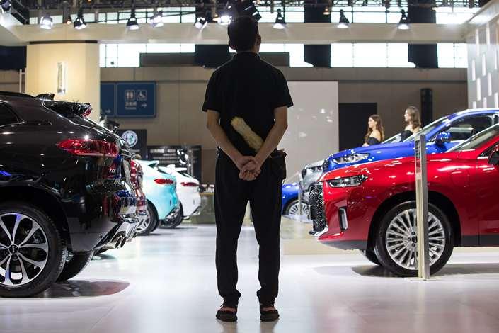 An automobile exhibition in Nanjing, Jiangsu province on Sept. 30. Photo: VCG