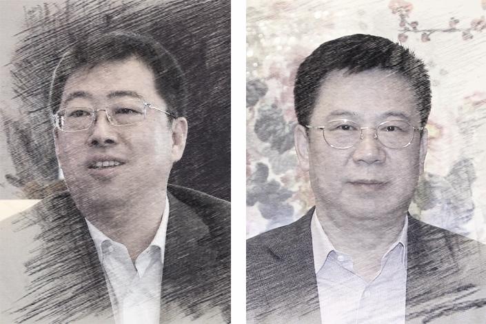 Ge Haijiao(left), Wang Bin