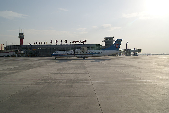 Urumqi Diwopu International Airport's terminal is seen in May 2011. Photo: VCG