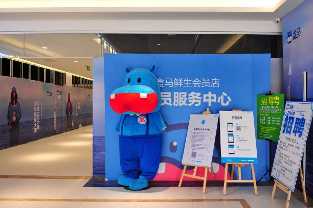 The mascot for Alibaba's grocery store, Hema. Photo: VCG