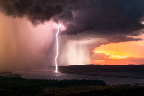 Lightning crashes down in the Kimberley region of Western Australia in April. Photo: IC