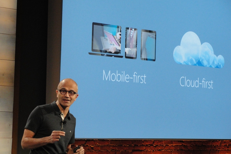 Nadella put cloud computing services at the top of Microsoft's strategy right after he took the office in 2014. Photo: VCG