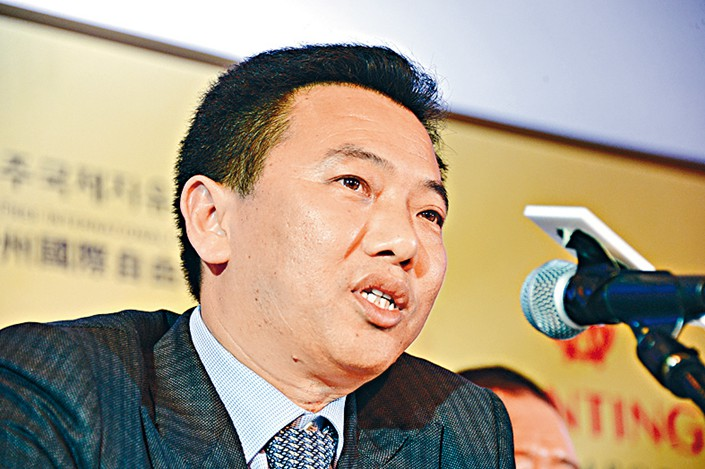Chairman of Hong Kong-listed casino operator Landing International Development, Yang Zhuhui. Photo: IC