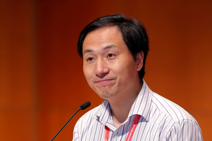 He Jiankui speaks during the Human Genome Editing Conference in Hong Kong on Nov. 28. Photo: IC