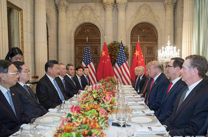 China President Xi Jinping and U.S. President Donald Trump agreed to put threatened new tariffs on hold after their two-hour meeting at the Duhau Park Hyatt in Buenos Aires, Argentina, on Dec.1. Photo: VCG