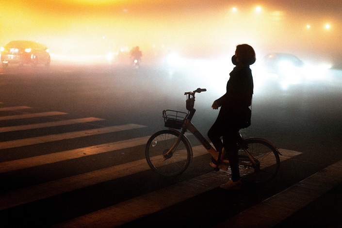 Shanghai issued a smog advisory on Nov. 27, when visibility was less than 5 meters (16.4 feet). Photo: VCG