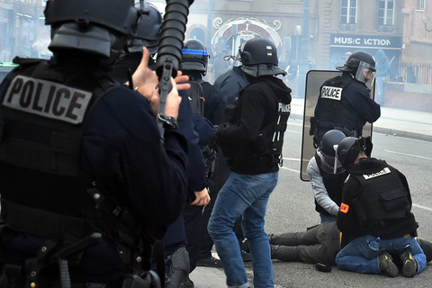 Students protest education reforms Tuesday in Toulouse, France. Photo: IC