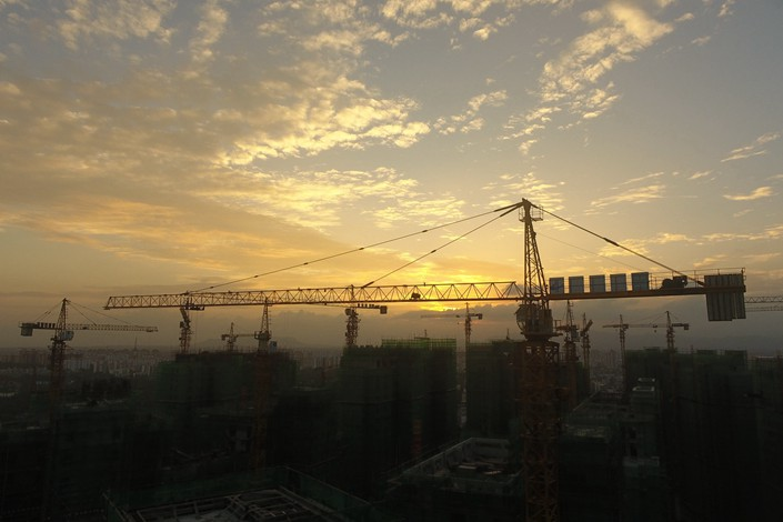 Residential buildings under construction on Nov. 13 in South China's Hainan province. Photo: IC