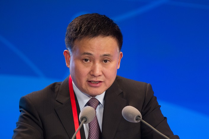 Pan Gongsheng, deputy governor of the People's Bank of China, said fintech companies can't use technological innovation to disguise the fact that they are conducting financial activities. Photo: VCG