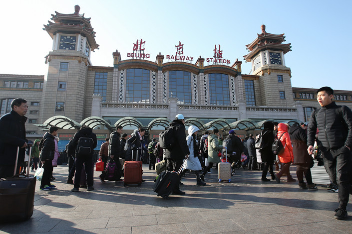 The square outside Beijing railway station. Photo: VCG