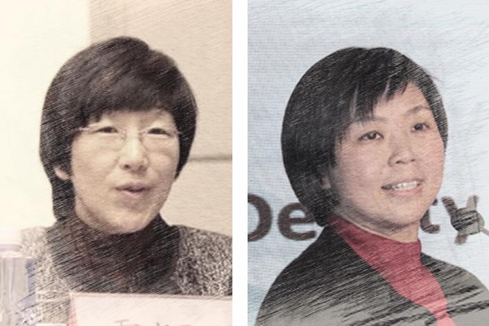 Huo Yingli (left) and Zhang Xuechun