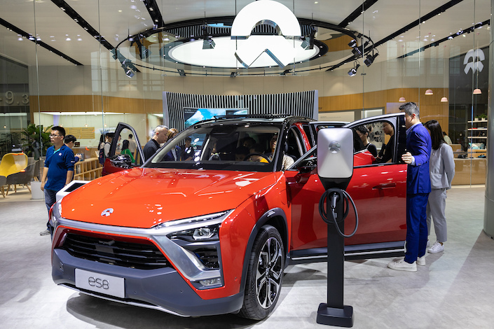 Nio's first electric SUV, the ES8. Photo: VCG