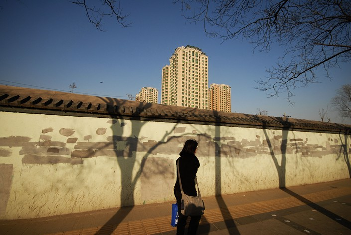 A residential building is seen near the northern section of Beijing's Third Ring Road on Monday. Photo: VCG