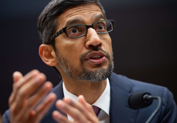 Google CEO Sunday Pichai in Washington last week. Photo: VCG