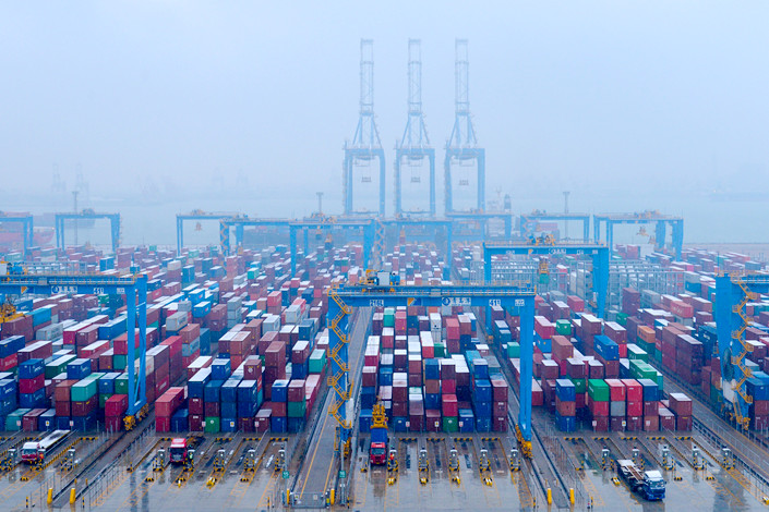 The Port of Qingdao in eastern China's Shandong province. Photo: Bloomberg